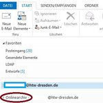 Screenshot Outlook Archivpostfach