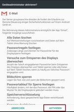 Screenshot Administratorfreigabe