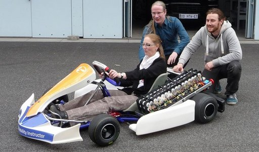 Project ELEKTROKART with Lexsolar GmbH and ELDEV GmbH (2017): Testing of electric kart