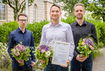 The finalists of the Young Researchers Award 2019: Tim Seiler, award winner Dr. Sebastian Paufler and David Wildner